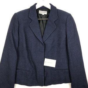 NWT GIORGIO ARMANI Button Front Wool Blazer Jacket